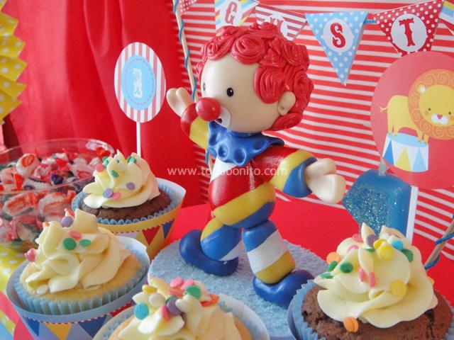 Adorno de torta payaso de circo