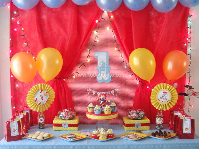 Decoraci n de cumplea os circo para imprimir - Decoracion para cumpleanos de 1 ano de varon ...