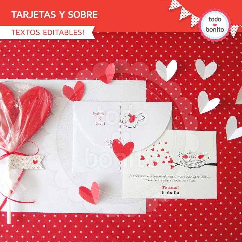 tarjetas con corazones