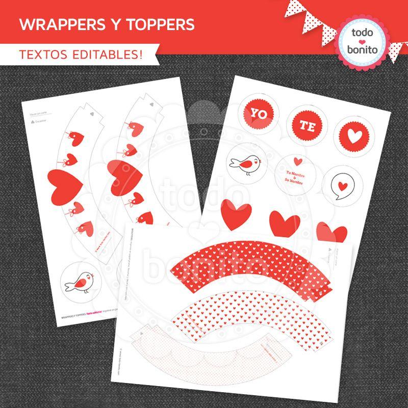 wrappers corazones