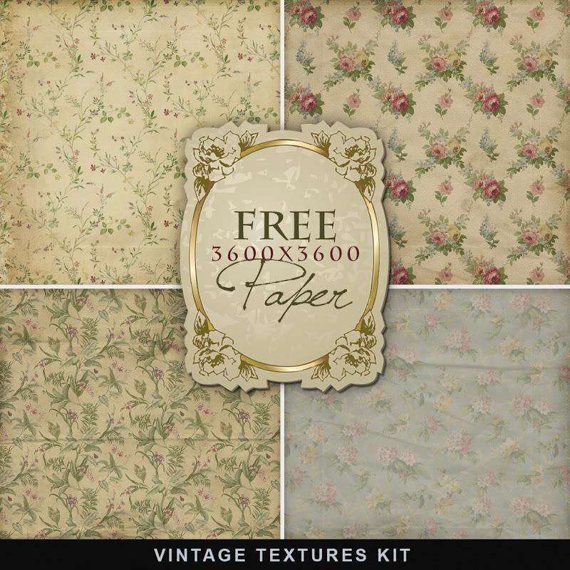 Vintage Papers Free Printables Flowers
