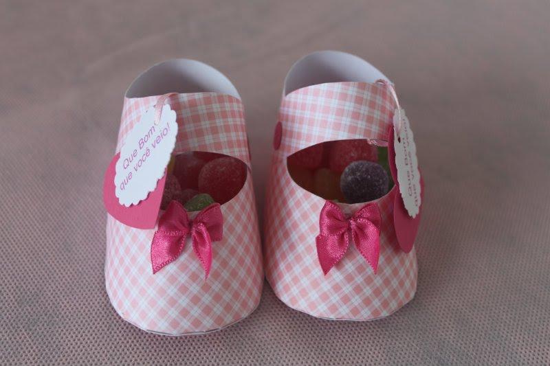 Zapatitos de papel para souvenir de bautismo todo bonito - Ideas para decorar zapatos de nina ...