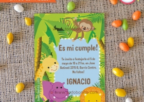 Kit imprimible de animales de la Selva