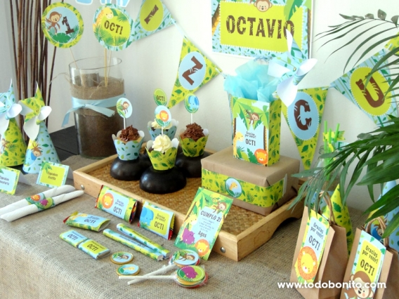 Kits imprimibles de Selva por Todo Bonito