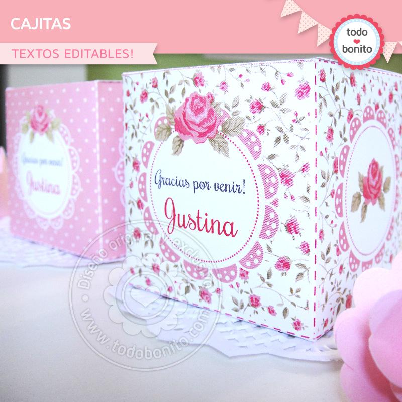 Cajas para imprimir rosas