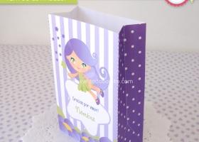 Kit imprimible Hadita Lila y verde