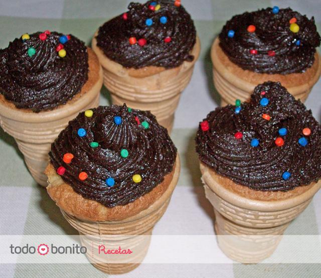 Cupcakes en vasitos de helado