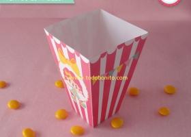 Caja popcorn de circo niñas