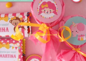Etiquetas de golosinas para imprimir circo niñas