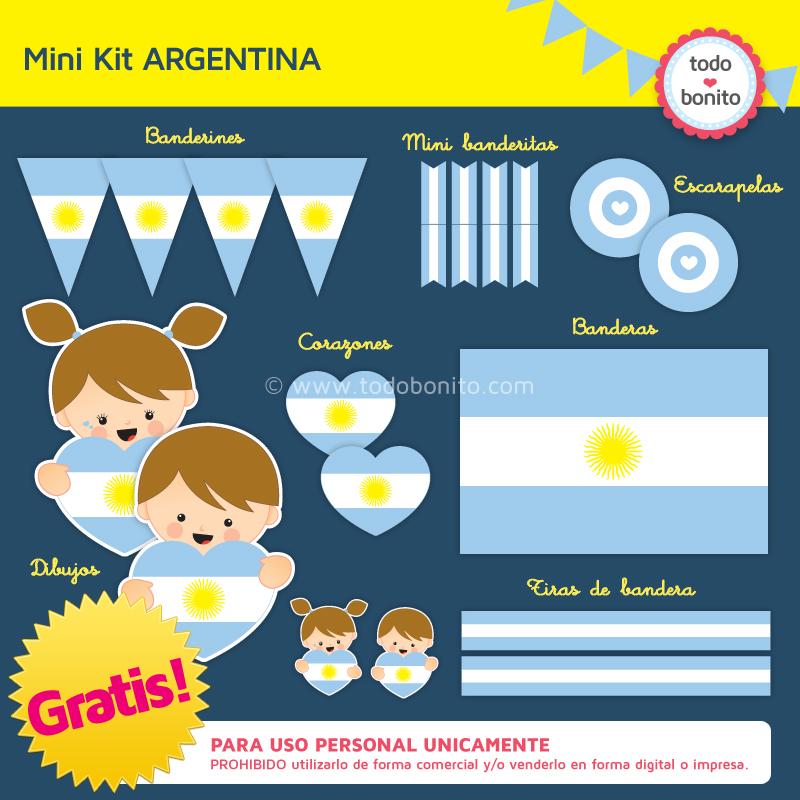 "Kit imprimible ""ARGENTINA"" Gratis!"