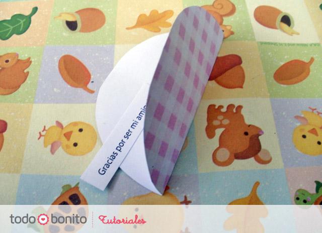 Galletitas de la fortuna en papel