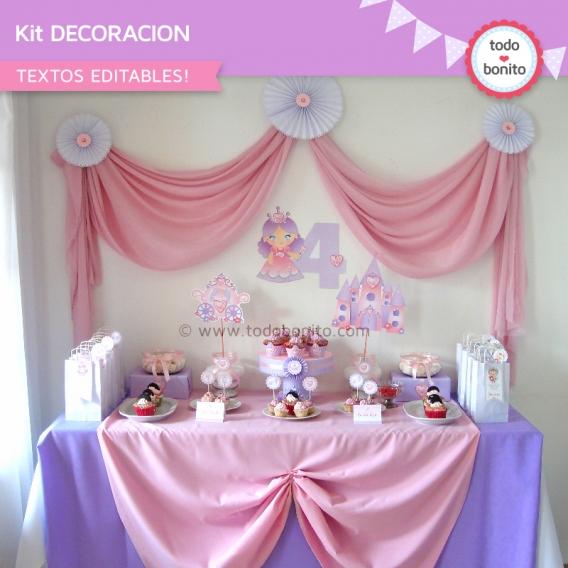 Kit Decoración Princesas