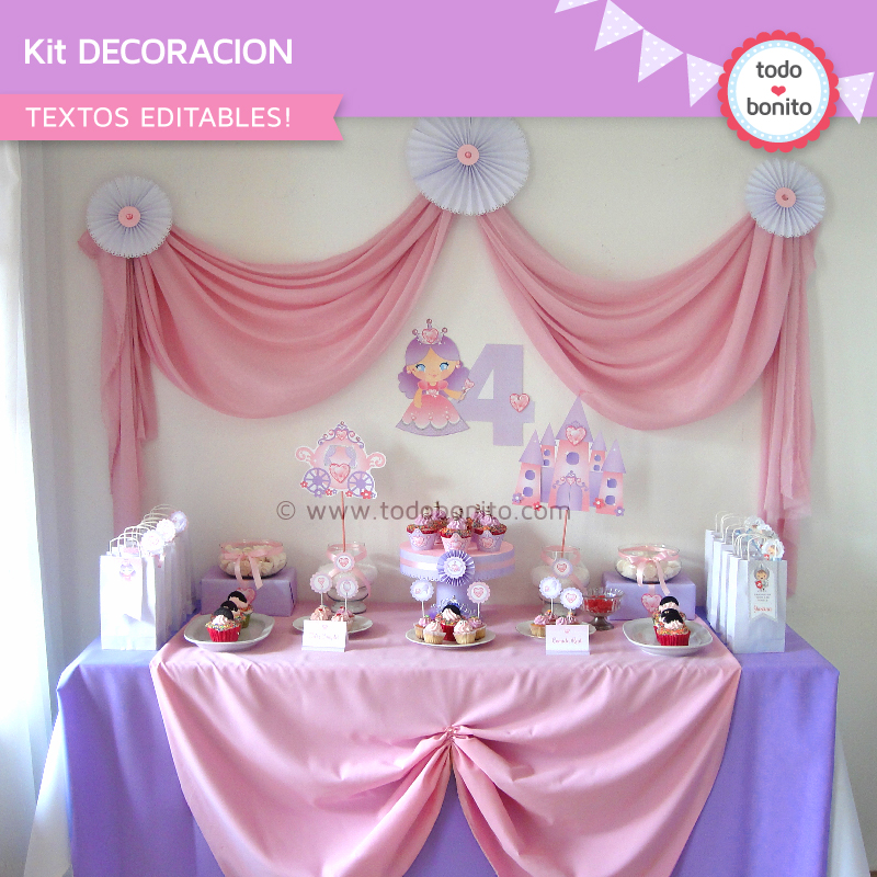 Kit decoración de Princesa