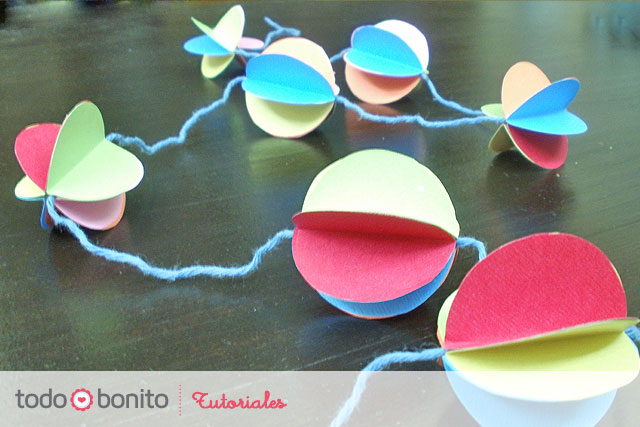 Tutorial: Guirnaldas de papel 3D