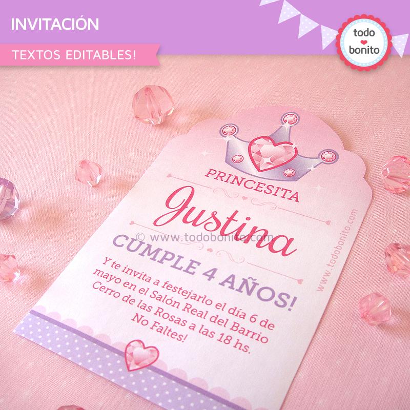 Invitaciones Personalizadas Gratis Para Imprimir De Princesita Sofia