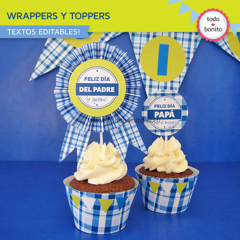 Wrappers y toppers de dia del padre