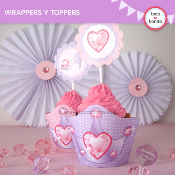 Wrappers y Toppers Princesas imprimibles