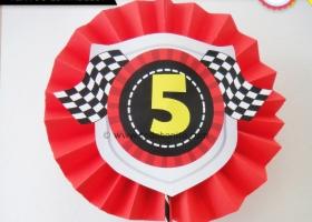 Decoración de cumpleaños de autos de carrera para imprimir ...