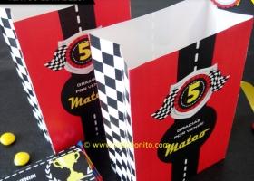 Bolsa golosinas de autos de carreras para imprimir