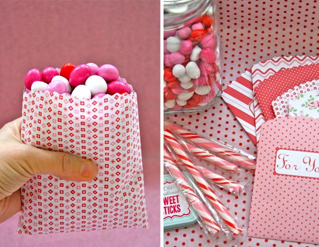 Moldes de bolsitas para dulces gratis