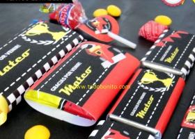 Etiquetas de golosinas de autos de carreras para imprimir