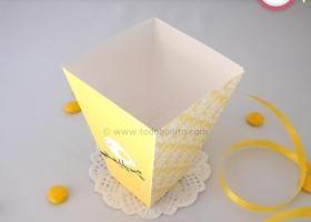 Pajarito amarillo para Primera Comunión