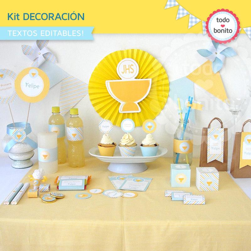 Ideas de primera comuni n de ni os todo bonito - Ideas para decorar una primera comunion de nino ...