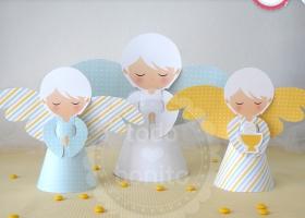 Ángeles Decoración de mesa Primera Comunión niños