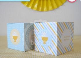 Cajita souvenir Primera Comunión niños para imprimir