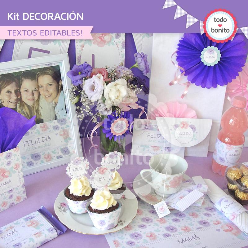 Kit imprimible d a de la madre for Decoracion para el dia de la madre