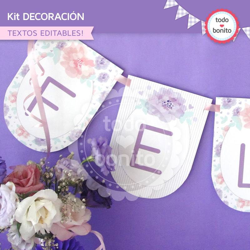 Kit imprimible d a de la madre - Decoracion para el dia de la madre ...