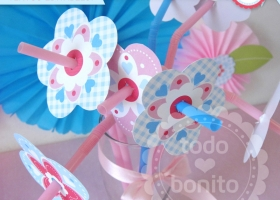 Kit imprimible flores y mariposas