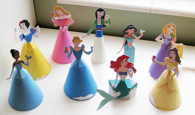 Princesas de Disney 3D para armar Gratis | Todo Bonito