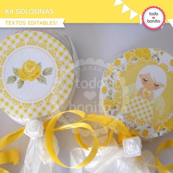 Kit golosinas de shabby amarillo