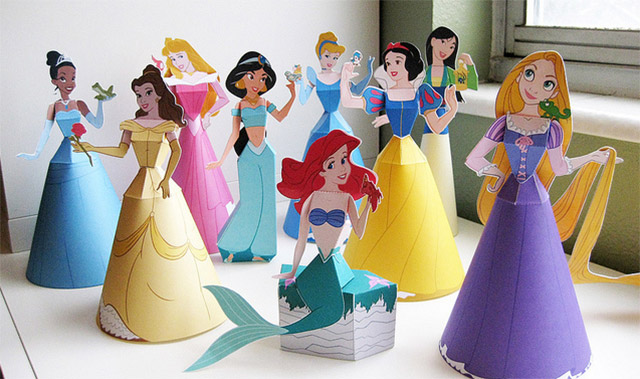Princesas Disney muñecas de papel 3D