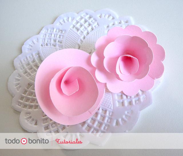 Paso a paso rosas de papel