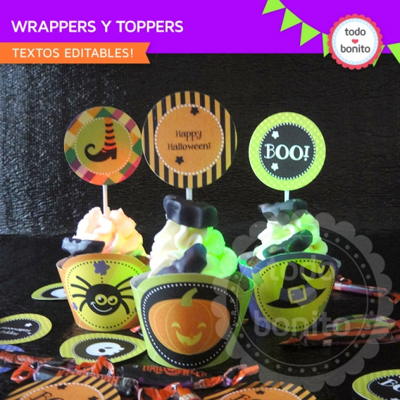 Wrappers y toppers halloween para imprimir