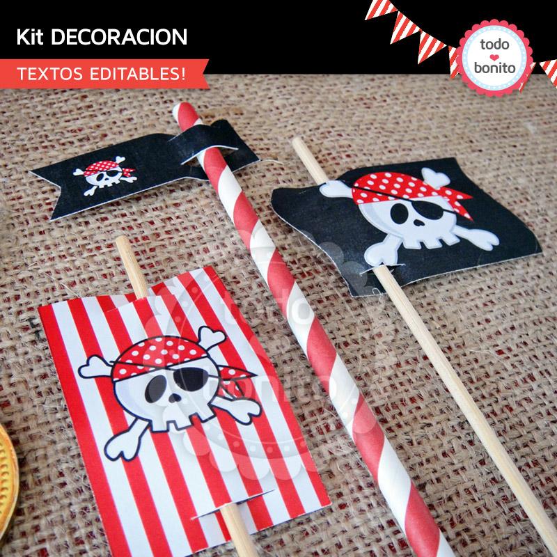Ahoy Kit Imprimible De Piratas