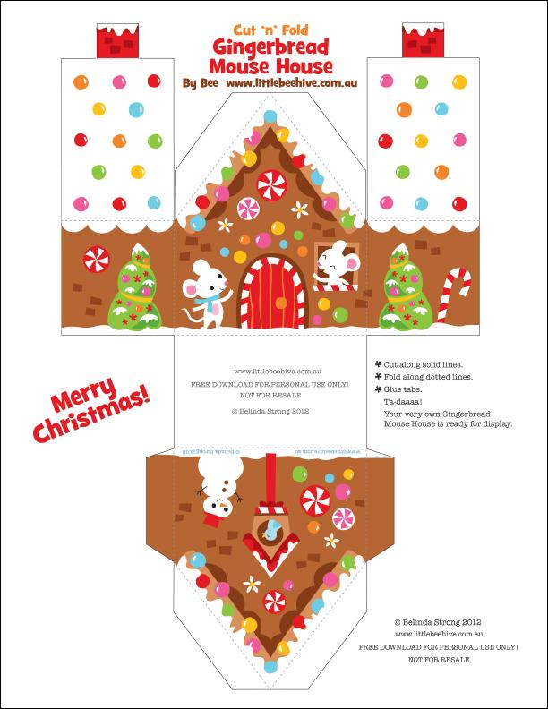 Gingerbread House Free Printable Patterns Mancainfo Mini