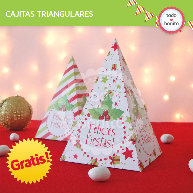 Moldes de cajitas navidad gratis