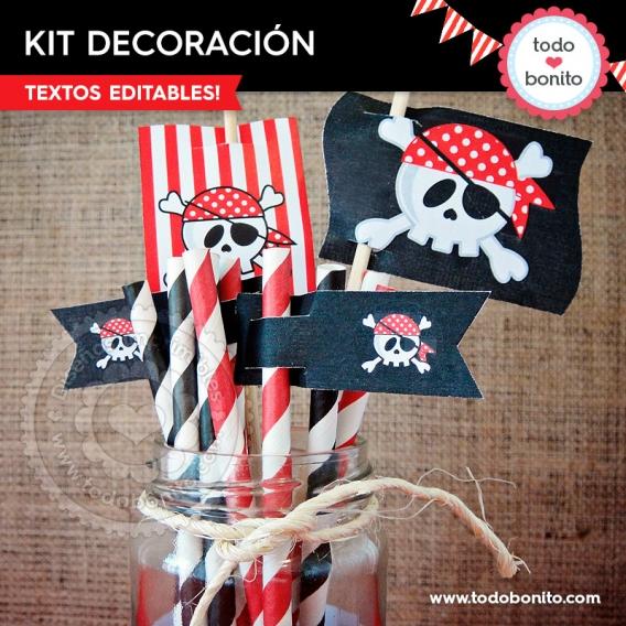 AHOY! Kits imprimibles de Piratas
