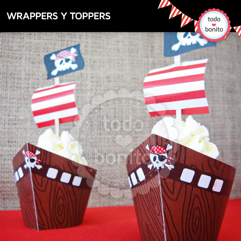 wrappers y toppers piratas