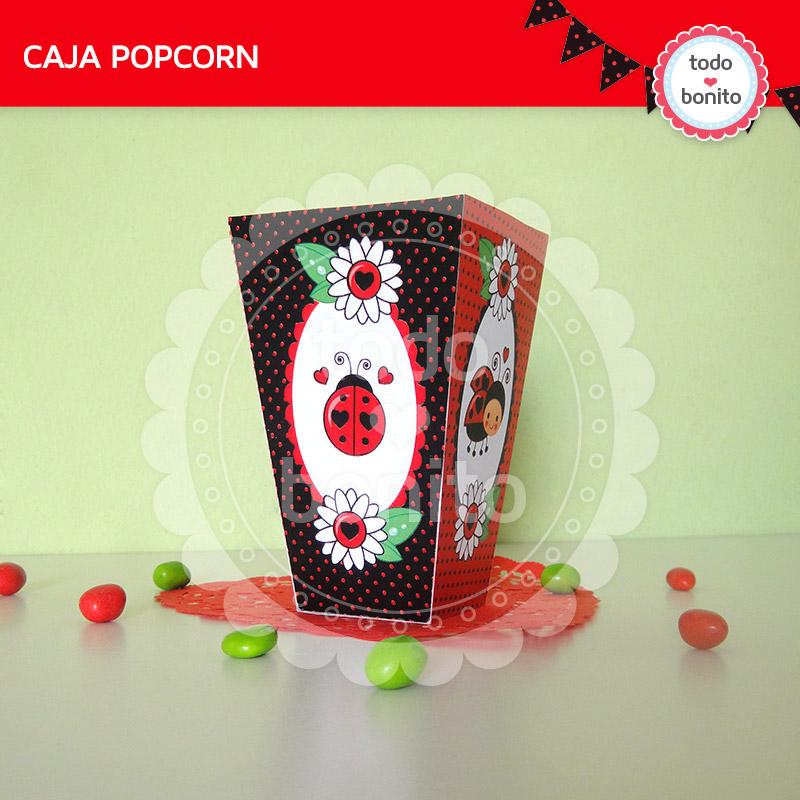 Caja PopCorn imprimible vaquitas de san antonio