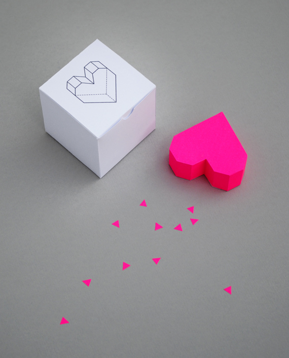 Caja corazon imprimible gratis