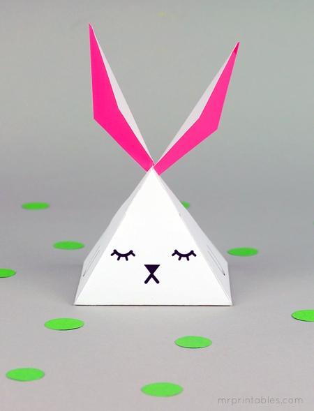 Cajitas conejo piramidales gratis