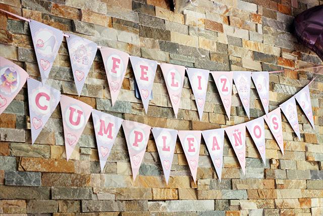 Banderines cumpleaños de princesa