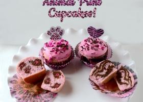 Cupcakes animal print paso a paso