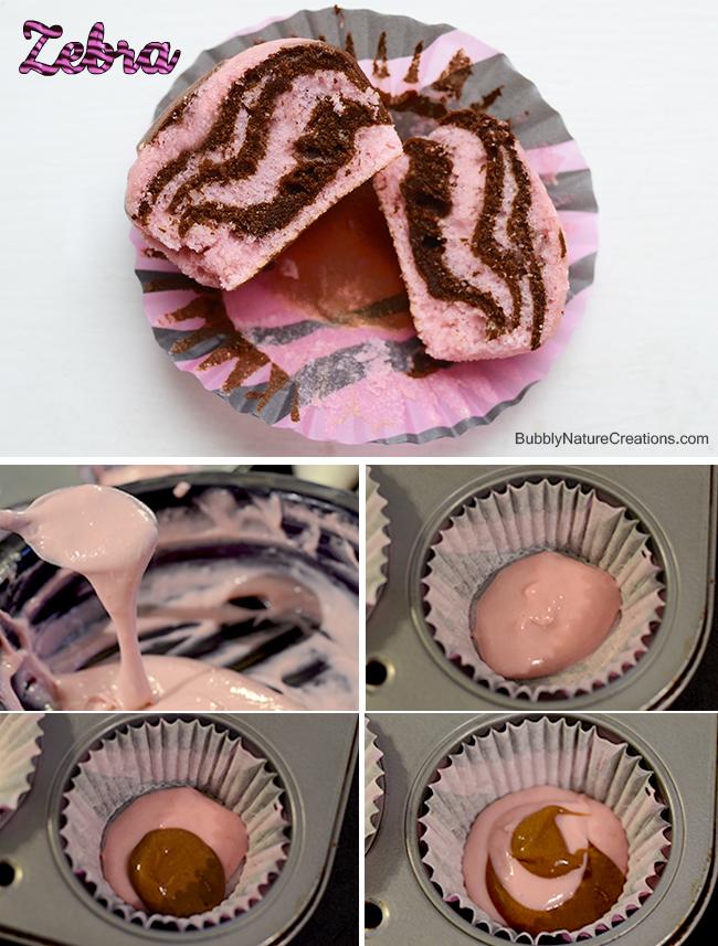 Cupcakes animal print cebra