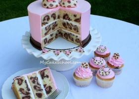 Cómo hacer un pastel animal print leopardo