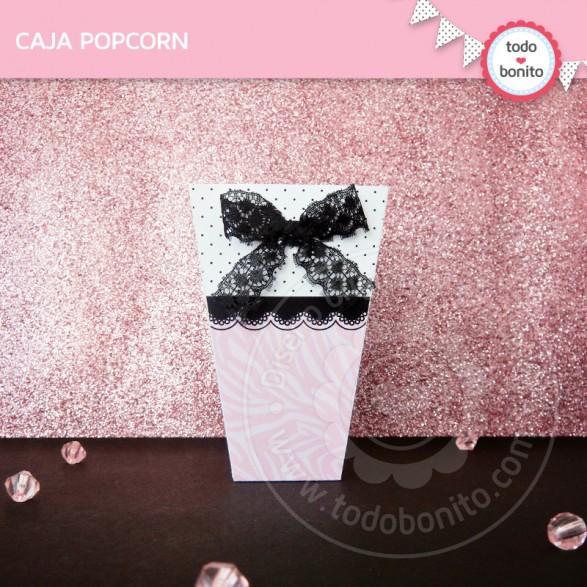 Caja popcorn Animal Print Cebra Rosa